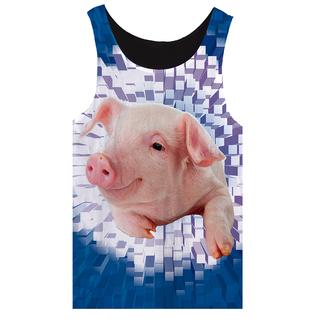 tank top animal print pig pet summer outfits fashion
