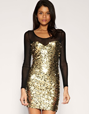 Rare | Rare Mesh & Sequin Dress at ASOS