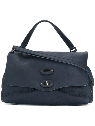 women bag tote bag leather blue