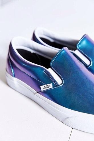 shoes vans blue shoes metallic shoes