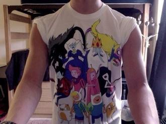 shirt adventure time white top