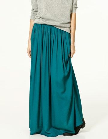 Nueva Trf Francia Zara Falda Largas Faldas Colección Ok8PnXw0