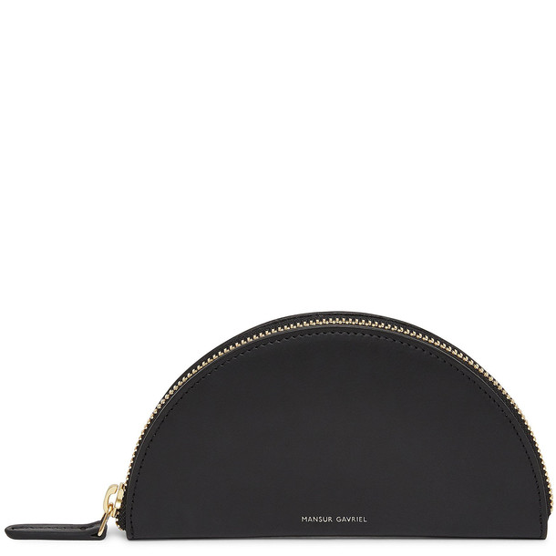 Mansur Gavriel Black Mini Moon Wallet - Flamma