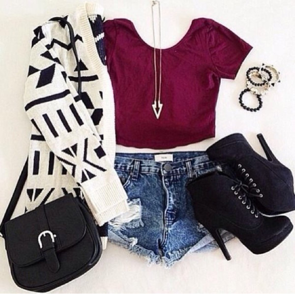 sweater cardigan aztec cute outfit full outfit whole outfit tumblr    Forever 21 Summer Outfits Tumblr