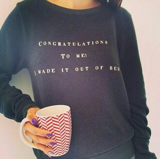 top congratulations me made out of be t-shirt graphic tee shirt long sleeved
