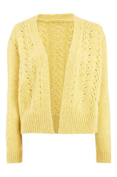 Topshop cardigan cardigan mohair yellow sweater