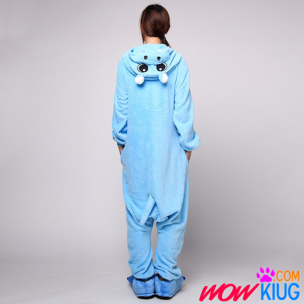 pajamas animal hippo pajamas costume disguise blue
