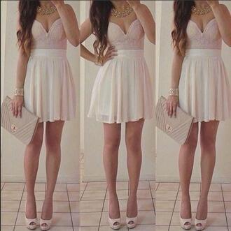 dress high heels shoes clutch feminine girly cute dress cute pretty pastel