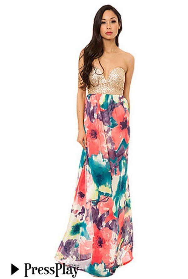 dress gold sequins maxi dress strapless dress