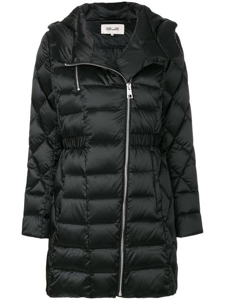 Dvf Diane Von Furstenberg coat women quilted black