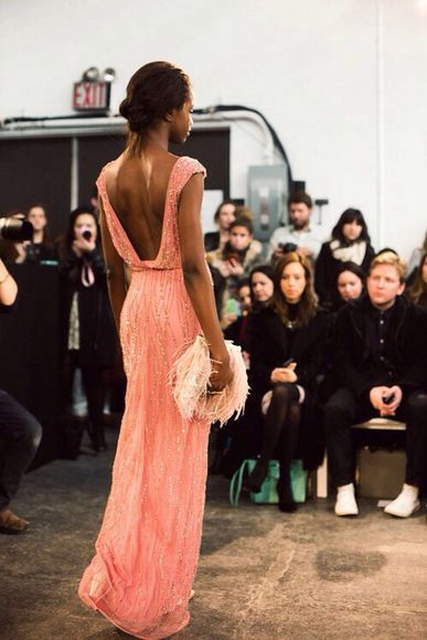 dress prom dress open back pink dress pink maxi sequined embellished dress pink sparkles long backless strips glitter, long prom dresses orange dress