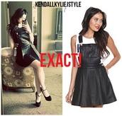 dress,skirt,kylie jenner,kardashians,black,leather,jumpsuit,black dress,black jumpsuit,grunge,black overalls