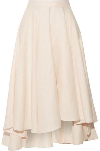 skirt midi skirt pastel midi pink pastel pink