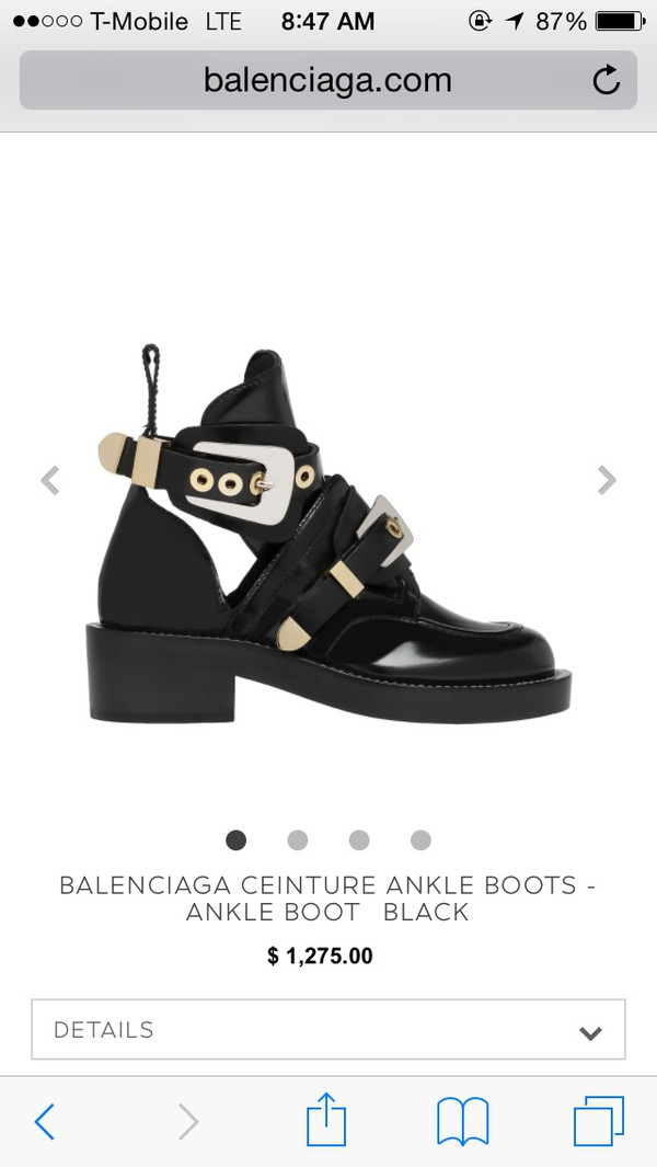 boots black grunge shoes shoes balenciaga