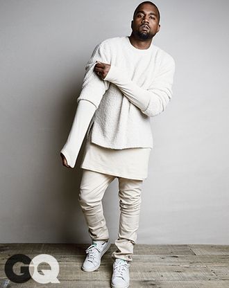 kanye west yeezy yeezus long tee menswear white urban menswear all white everything