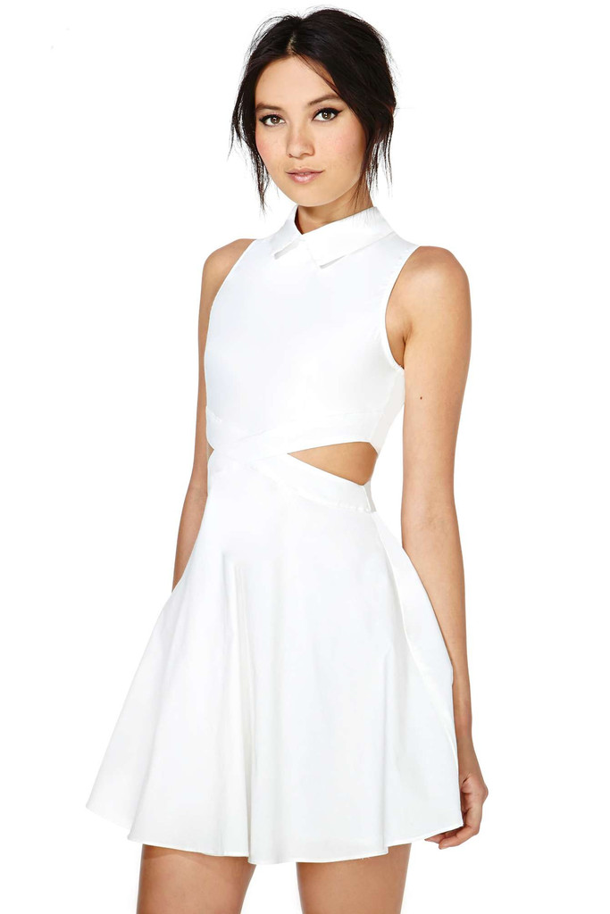 Innocent white cutout dress – glamzelle