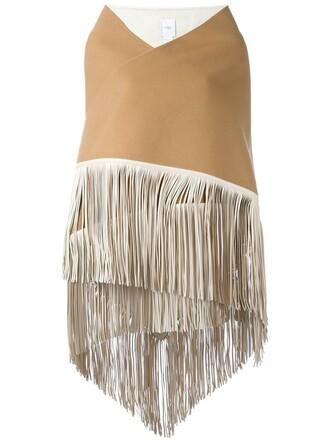 women scarf nude wool