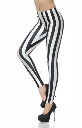 Stripe Printed Leggings
