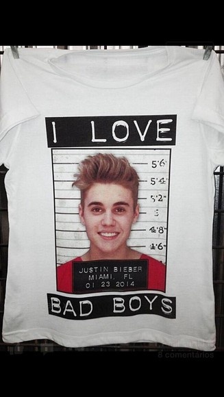 justin bieber colorful t-shirt swag clothes bad boys