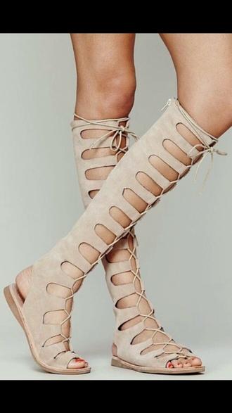 shoes knee high gladiator sandals