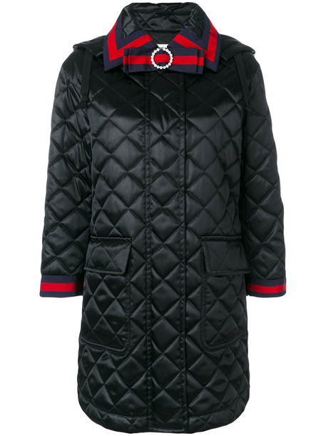 gucci coat women quilted cotton black