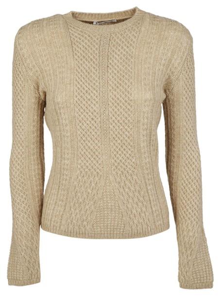 Max Mara sweater knit beige
