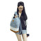 Vintage womens fashion lace denim women canvas backpack schoolbag hiking bag