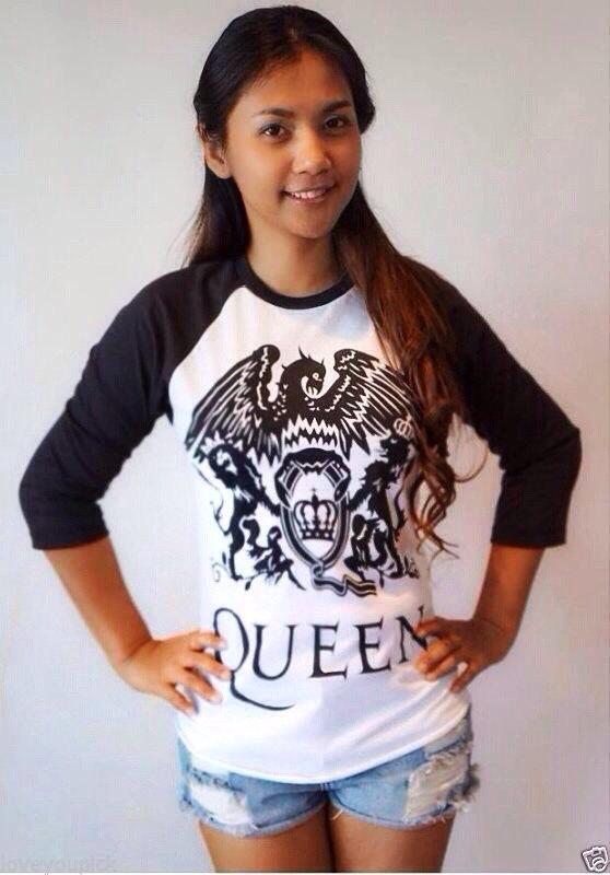 Queen baseball t shirt men women long sleeve tshirt jersey raglan long sleeve t shirts unisex size m l