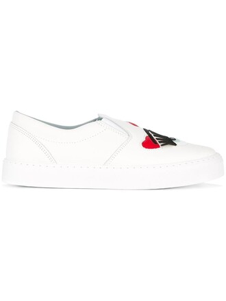 women sneakers leather white suede shoes