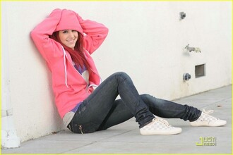 cardigan ariana grande cat valentine victorious pink sweater hoodie