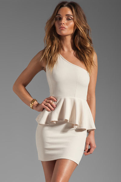 One shoulder peplum dress from luxury fashion & accessories  on storenvy