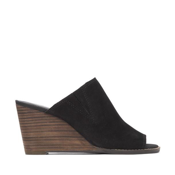 Lucky Brand Jillah Stacked Wedge Mule - Black-10