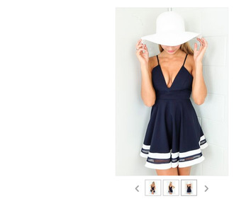 navy navy blue dress navy dress cocktail dresses dress stripes skater dress blue dress casual sailor