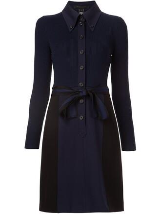 dress shirt dress knit blue