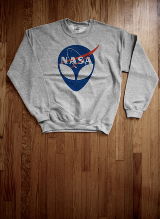 sweater nasa alien grey cool jumpsuit fashion trendy
