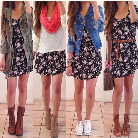 dress denim flower cute style diy design jeans scarf mk handbags