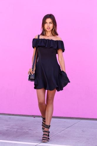 dress black ruffle