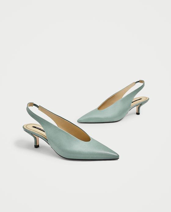2dd5c3ec23 SLINGBACK LEATHER HIGH HEEL SHOES - View all-SHOES-WOMAN | ZARA Macedonia