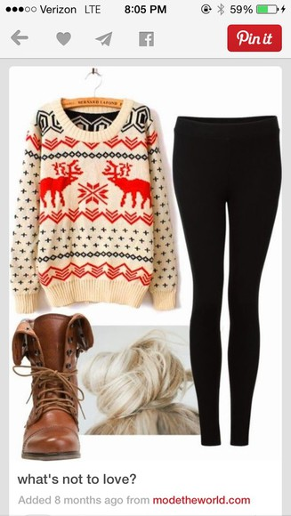 winter outfits knit fall deer