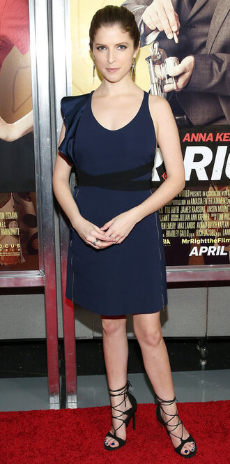 asymmetrical asymmetrical dress anna kendrick sandals shoes