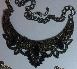 jewels collar necklace ethnic jewellery aztec ethnic vintage vintage jewels gold necklace gold gold jewelry