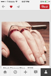 jewels,ring,blood,knife ring,gross,home accessory,american horror story,halloween accessory,halloween makeup