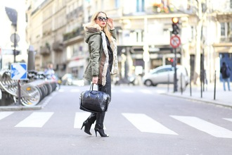 caroline louis pardonmyobsession blogger heel boots black bag givenchy bag designer bag parka