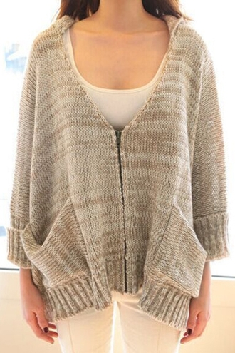 cardigan fall outfits style grey fashion winter outfits warm cozy pockets knitwear long sleeves sweater trendy cool