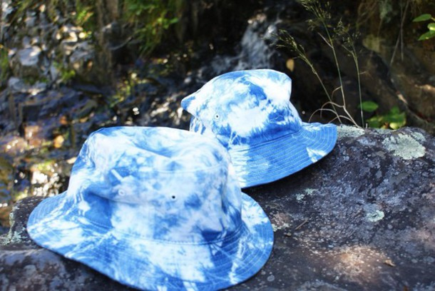 hat bucket hat acid wash printed bucket hat