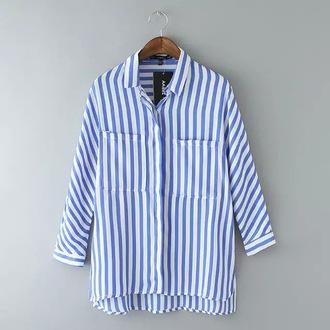 blouse striped blouse stripes striped shirt