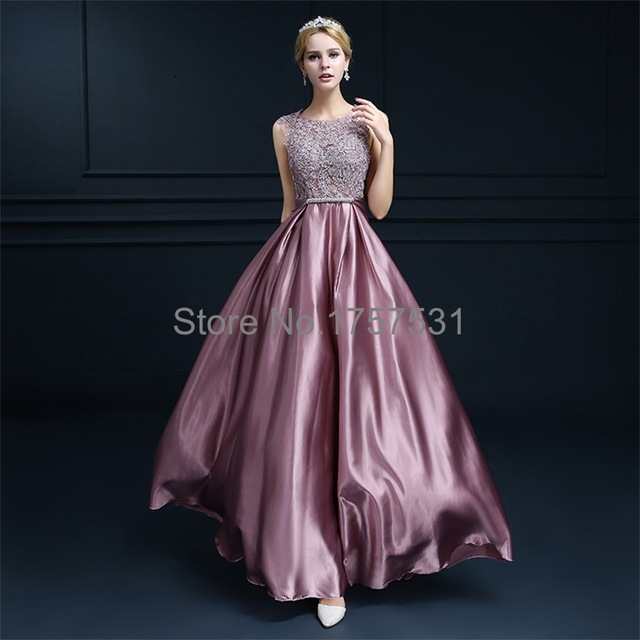 Lace and Satin Prom Dresses
