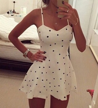 dress dots withe