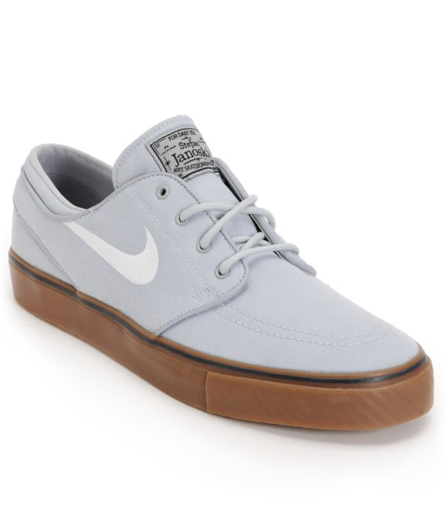 newest 4edbe 56da4 Nike SB Zoom Stefan Janoski Wolf Grey   Gum Shoe at Zumiez   PDP