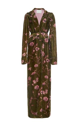 Florari Belted Velvet Kimono Robe | Moda Operandi